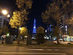 地下街は人が多いですが、地上はとても静かな大通公園です。
