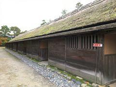 「足軽長屋」(国指定重要文化財)1842年に藩の普請奉行が建てた棟札がみられます。