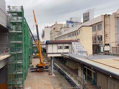 東京7:48ー新潟9:56  新潟駅は高架化工事が進捗中。