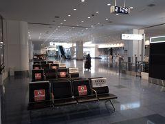 閑散としている国際線ターミナル