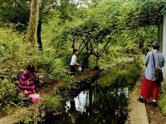 石神井公園に到着。 子供たちが公園で魚釣りなんてしていていいの?って思ったけど