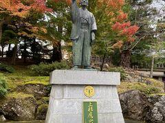 こちらが第9代藩主上杉鷹山。 財政難を極めた米沢藩を立て直した名君です。