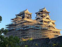 改修中の熊本城。