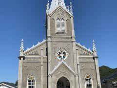 禁教時には「踏み絵」が行われていた庄屋跡に建つ崎津教会。