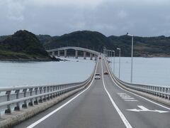 角島大橋に移動。晴れていたらもっときれいだったろうが…