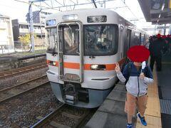 10分ほどで蟹江駅に到着です。