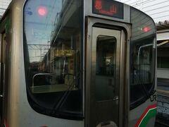 福島県の新白河駅です。現在、8時30分です。 東北本線新白河駅で郡山駅行きに乗り換えます。