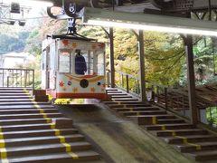 吉野駅からはロープウェイに乗りました。 紅葉マーク。