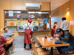 人吉の丸一蕎麦屋に。ここも水害で仮店舗での営業だった。とても活気のある感じのいいお蕎麦屋さん。