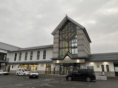 ほどなくしてかみのやま温泉駅に到着。  山形新幹線も停まる駅です。