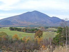頂上からは牧場と浅間山を望めました。