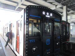 諫早駅て乗り換えます。