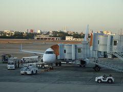 鹿児島へはこの飛行機で向かいます。