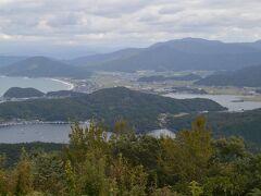 左から日本海、日向湖(海水)、久々子湖(汽水・シジミがとれる)