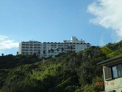"""今日宿泊するホテル""""伊良湖ビューホテル""""が見えてきました"""