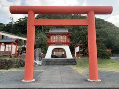 長崎鼻の龍宮神社。