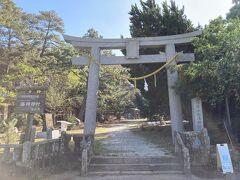 海神神社に到着。 ひと気は無し。。。