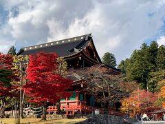 輪王寺の周りも綺麗に色付いています(*^_^*)