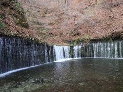 【白糸の滝】 車で軽井沢まで来たので白糸の滝まで行ってきました ここも紅葉が終わってました