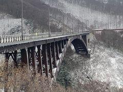 レンタカー(スタッドレスタイヤで良かった~) で弘前方面に 城ヶ倉大橋