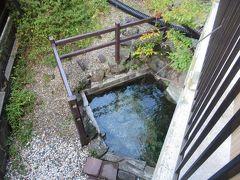 今では廃業してしまった旅館の前にあるこれが土方歳三が傷を癒した岩風呂です