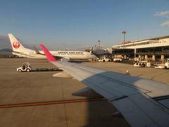 出雲空港R/W25に着陸。