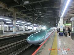 大宮駅で乗り換えです。ここからは「新函館」まで東北新幹線と北海道新幹線で「はやぶさ」に乗ります。