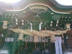 歩いて櫛田神社に来ました。 博多祇園山笠祭りの舞台になる神社です。