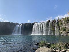 岡城から豊後大野市にある原尻の滝に。『東洋のナイアガラ』の異名があるらしい。