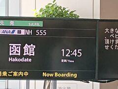 少し遅めの出発。フライト番号はNH555。縁起の良い便名だ。