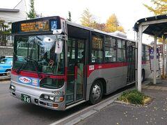 ホテルチェックイン前に、遅めのお昼ごはんが食べたかったので、函館駅行きのバスには乗らず、まずは函館バスの亀田支所行きで市電の湯の川駅に近い「湯倉神社前」まで乗車。