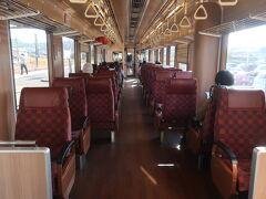 イベント列車でない方は ボックス席だったので、私はこちらに 席を確保
