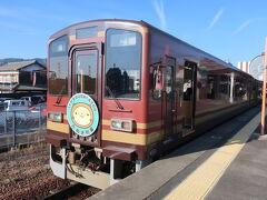 信楽高原鉄道の列車が待っていました。