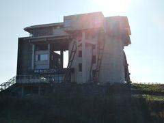 廃墟よような山頂駅に戻りました。