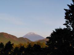 部屋からは富士山が見えます。