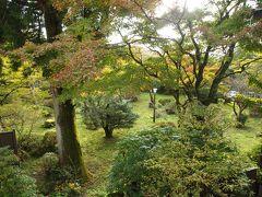 朝のお部屋からの景色。 11月の頭で外の気温は6℃。とても寒いです。 源泉大浴場「権現の湯」は朝の5時から入れたので、朝ご飯の前に温まりに行きました。熱めのお湯と程よいお湯加減の2曹ありました。