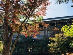 神社を背中にして右にそれると鶴亀石の手前の橋の紅葉が綺麗~
