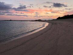 朝焼けの土盛海岸。