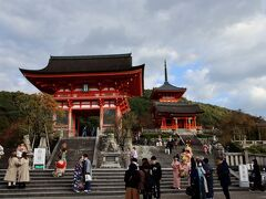 ザ・京都な風景。清水寺にやって来ました。