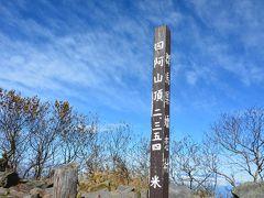 山頂標識も撮るの忘れてしまったのでこれまた4年前の・・・  けっこうな賑わいでした。