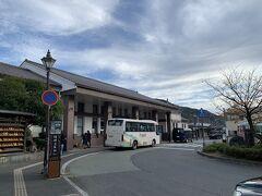 一般道を走る区間がすごく短くなったのでスムーズだわ~。  城崎温泉駅前まで来ました