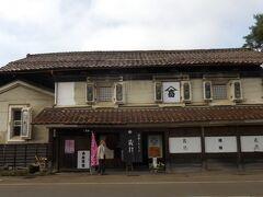 小田付の代表的建物、小原酒造。享保2年(1717年)創業の老舗で、現在の建物は明治10年(1877年)に建てられたものです。
