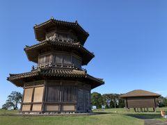 城跡と聞くと、戦国時代や江戸時代等の石積みに漆喰壁スタイルが頭に浮かびますが、ここ鞠智城跡は、それ以前、大和朝廷時代の古代山城の跡になります。