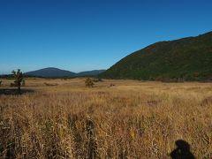 約2時間でタデ原湿原に出ました。草紅葉が美しく気持ちいい。