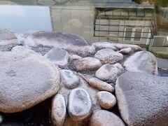 城崎温泉のお湯は熱いです。 ホカホカ!