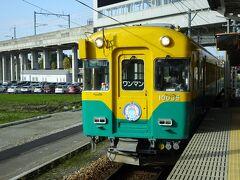 09:15 富山地方鉄道の新黒部駅から宇奈月温泉行に乗車 ちなみに富山から地鉄を使うと1時間はかかるので新幹線の速さが際立つ
