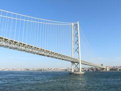 明石海峡大橋を通過。 この後は何もなく、船内で休んでいると、