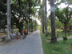 台南公園  整備されている遊歩道