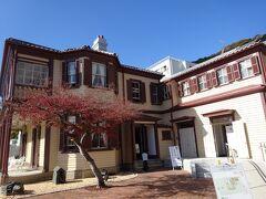 ラインの館(1915年(大正4年)に作られた旧ドレウェル邸)異人館の中でここだけは無料で見学できました。