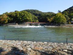 宇治川の眺め。